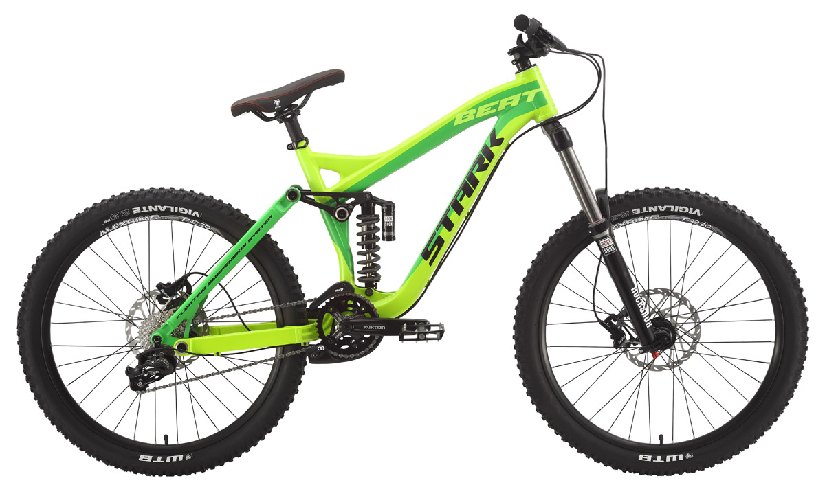 STARK Велосипед Stark Beat Pro (2015) желто-зеленый 440 mm