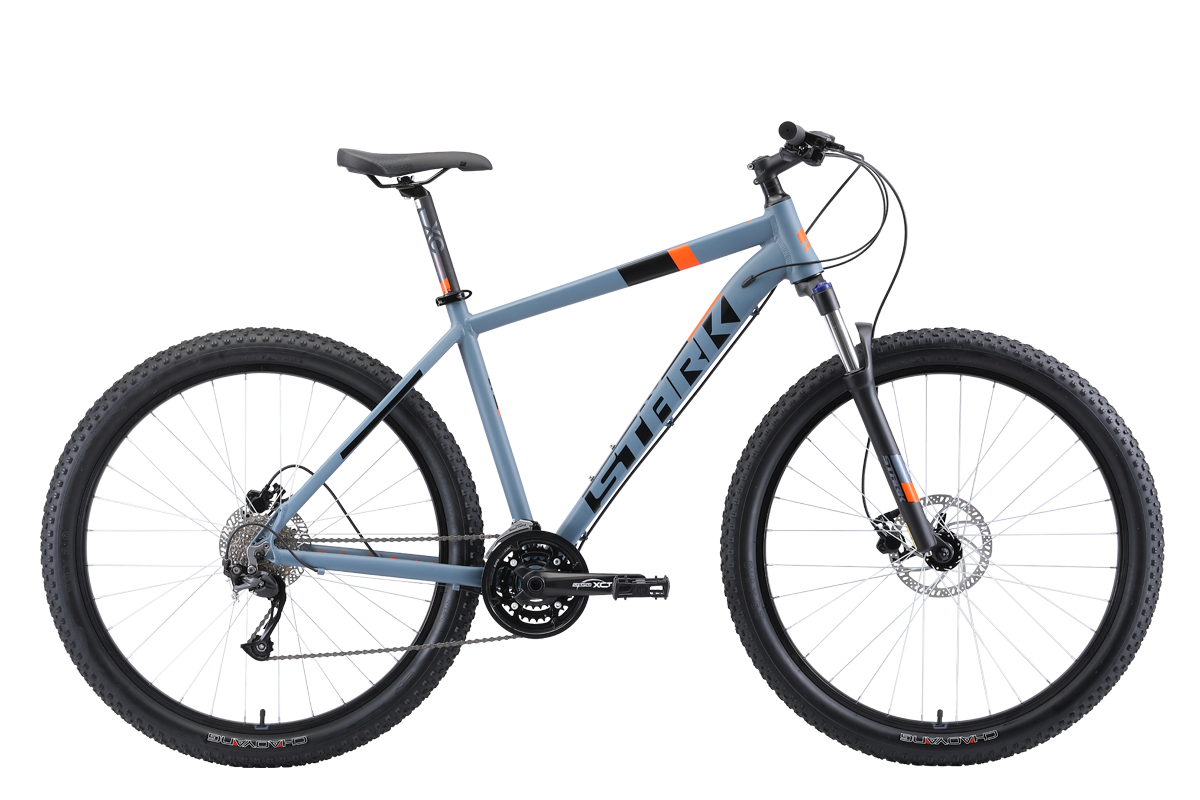 Велосипед Stark Funriser 29.4+ HD 2019 серый-оранжевый 22 д