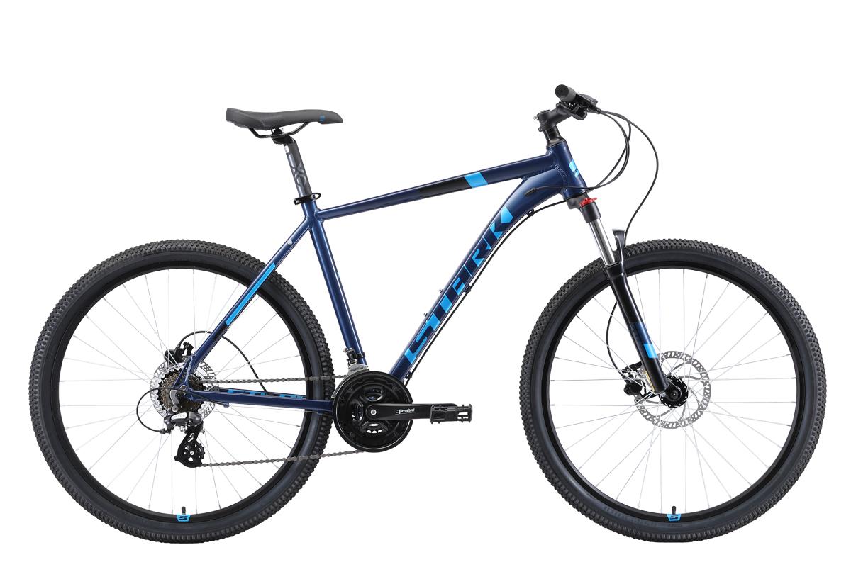 Велосипед Stark Router 27.3 HD 2019 голубой-чёрный 18 д