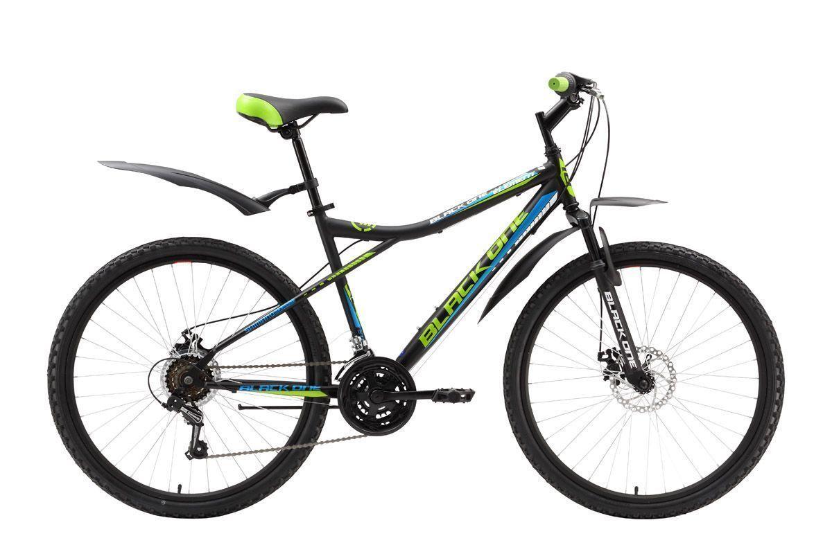 Велосипед Black One Element Disc (2016) черно-зеленый 20