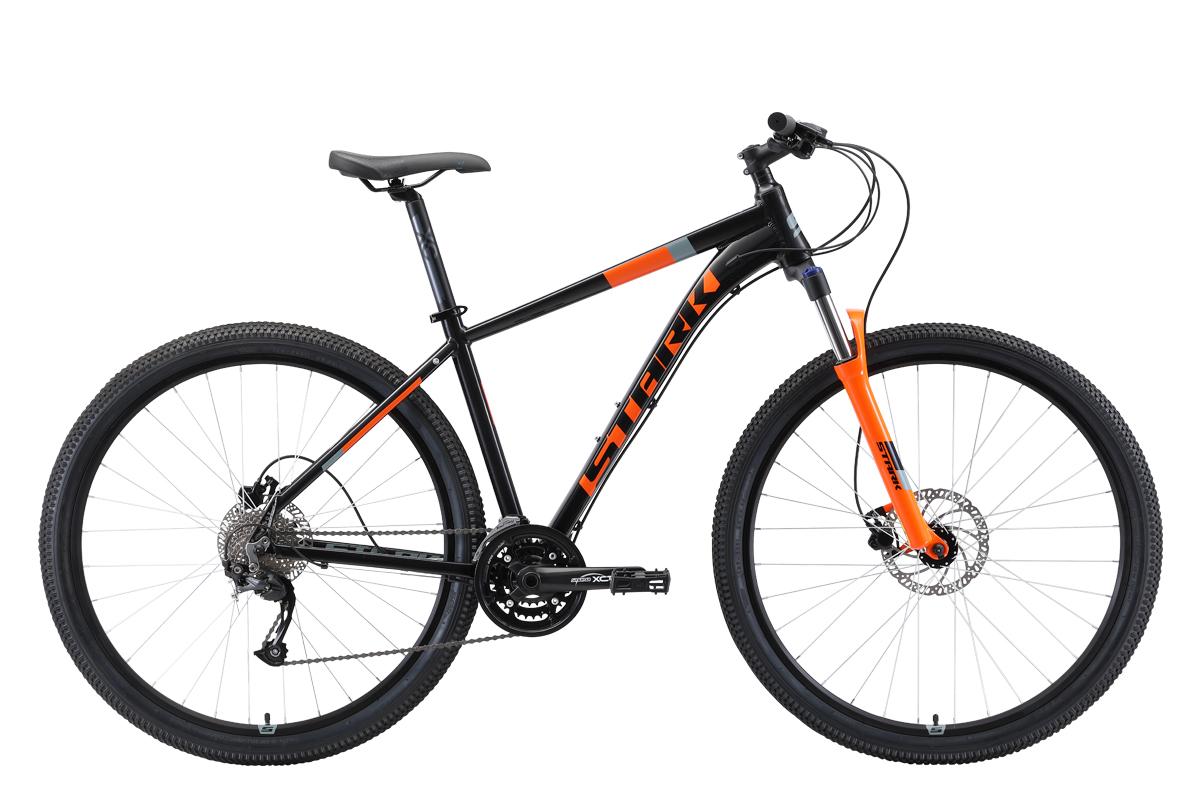 Велосипед Stark Router 29.4 HD 2019 чёрный-оранжевый-серый 20 д