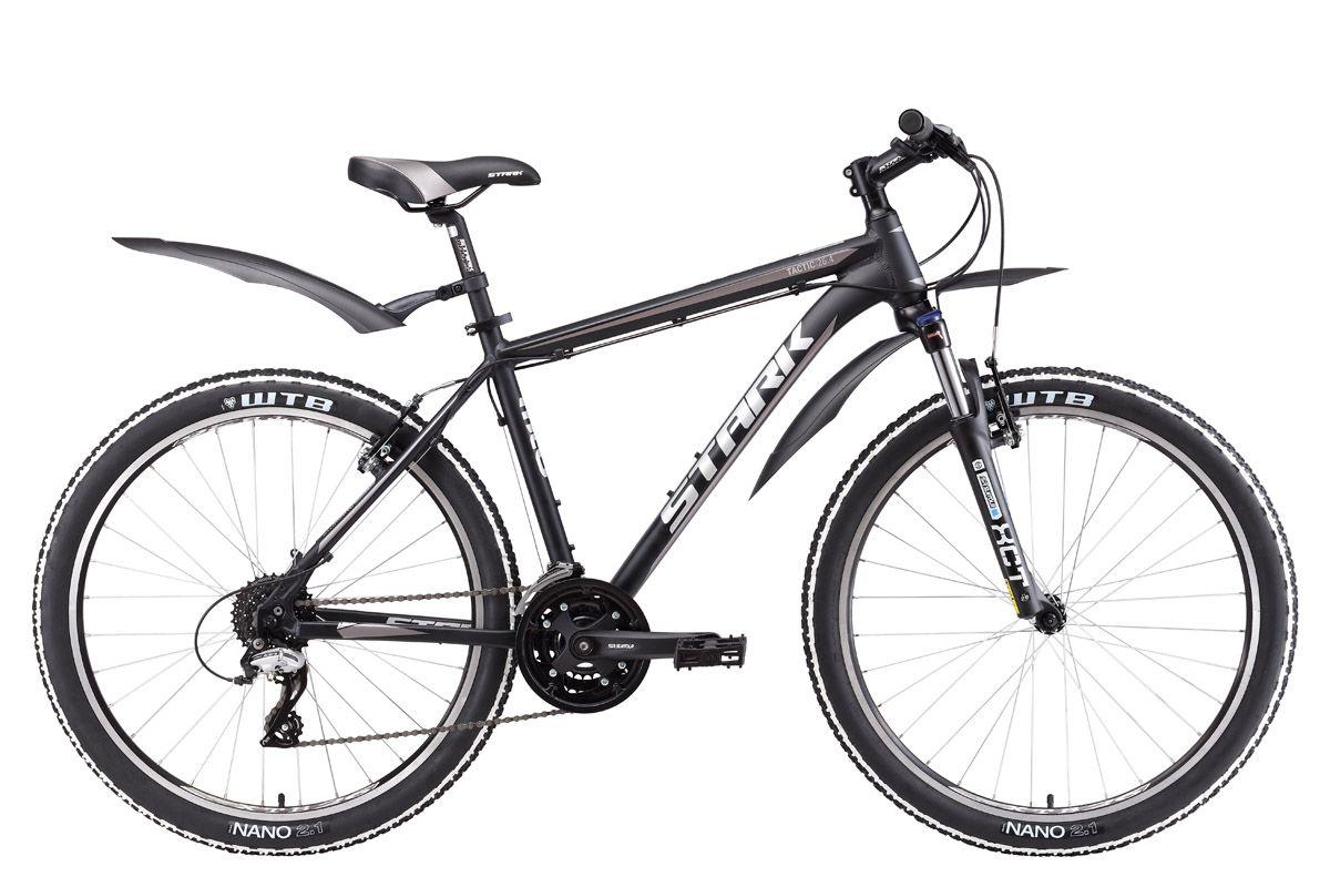 Велосипед Stark Tactic 26.4 V 2017 черно-серебристый 18 д
