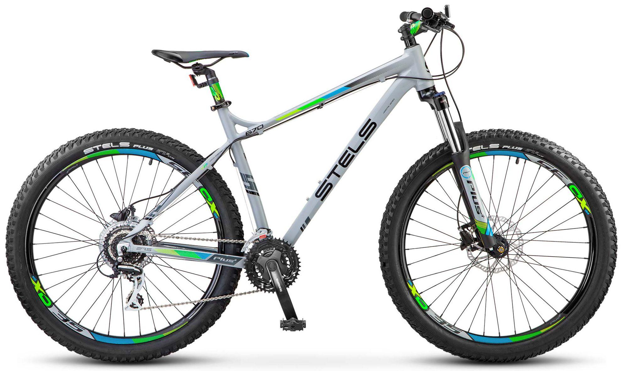 Велосипед Stels Navigator 670 D 27.5+ 2018 серый 18 д