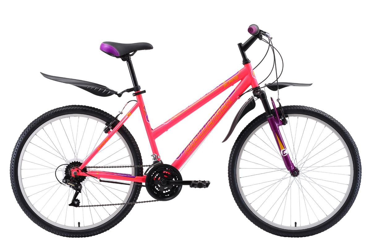 Велосипед Challenger Alpina 26 2018 розовый-жёлтый-фиолетовый 14.5 д