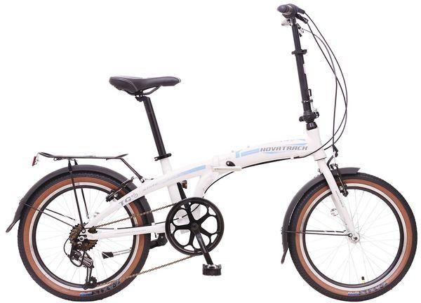 Велосипед Novatrack складной TG-20 2016 бело-зеленый one size