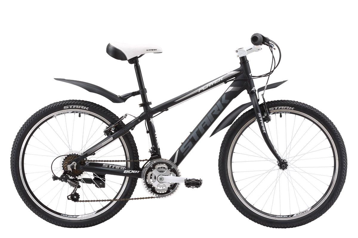 Велосипед Stark Player (2016) сине-оранжевый one sizeОТ 9 ДО 13 ЛЕТ (24-26 ДЮЙМОВ)<br>Недорогой подростковый велосипед Stark Player, мы рекомендуем, для мальчиков возрастом от 8 до12 лет. Хотя, более правильно, ориентироваться по росту ребёнка, от 127 до 155см. Благодаря алюминиевой раме и отсутствию амортизационной передней вилки, подростковый велосипед имеет меньший вес, чем его собратья. На велосипеде этого класса, подросток сможет научиться пользоваться переключателями передач и ободными тормозами. Эти навыки пригодятся мальчику, в дальнейшем, при управлении взрослым велосипедом. Подростковый велосипед оборудован надёжными комплектующими фирмы Shimano и колёсами с двойным алюминиевым ободом, которые имеют повышенную устойчивость к деформации. Велосипед укомплектован подножкой, быстросъёмными крыльями и надёжными, широкими педалями.<br><br>бренд: STARK<br>год: 2016<br>рама: Алюминий (Alloy)<br>вилка: Жесткая (сталь)<br>блокировка амортизатора: None<br>диаметр колес: 24<br>тормоза: Ободные (V-brake)<br>уровень оборудования: Начальный<br>количество скоростей: 18<br>Цвет: сине-оранжевый<br>Размер: one size