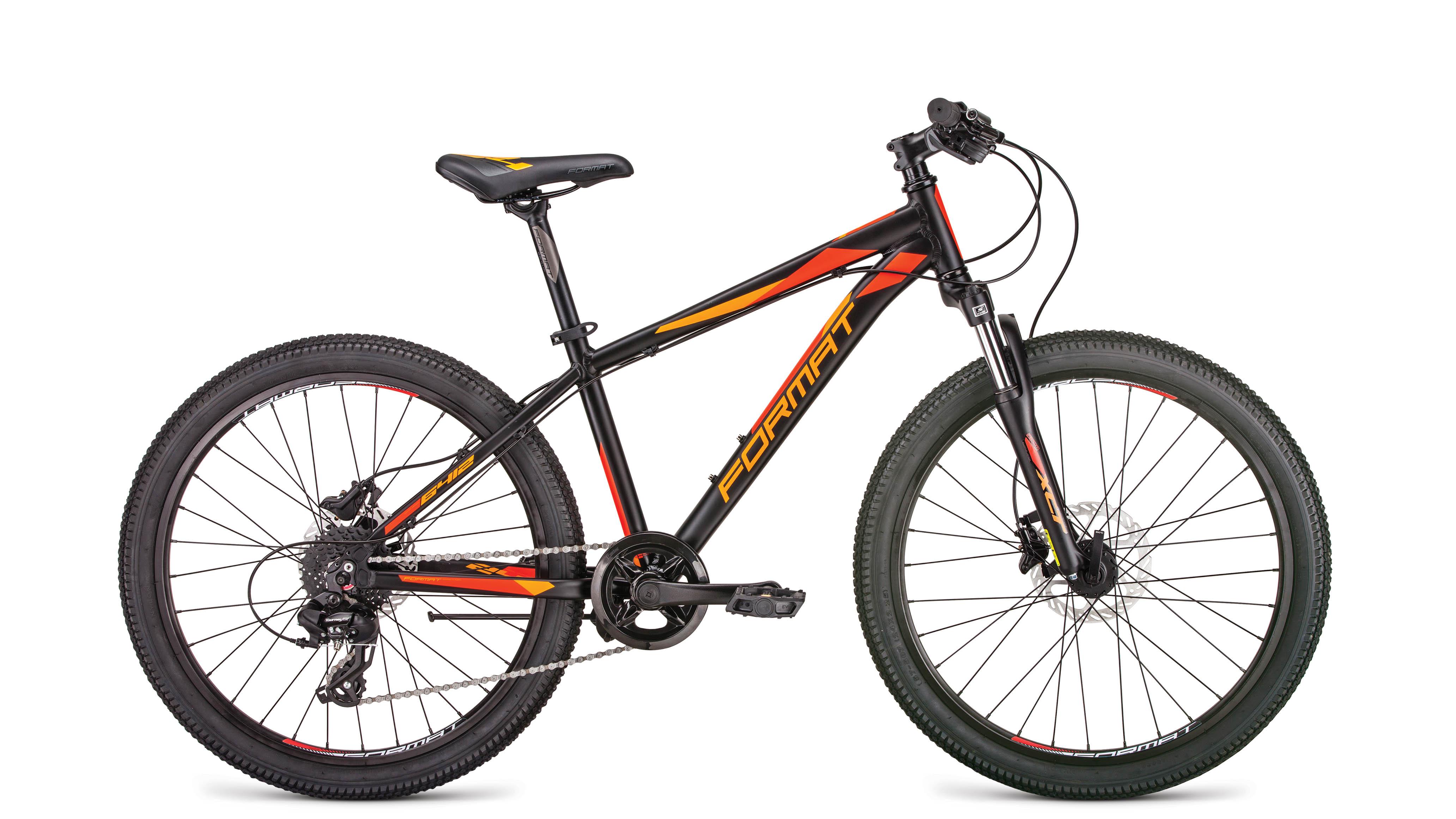 Велосипед FORMAT 6412 2019 черный матовый one size