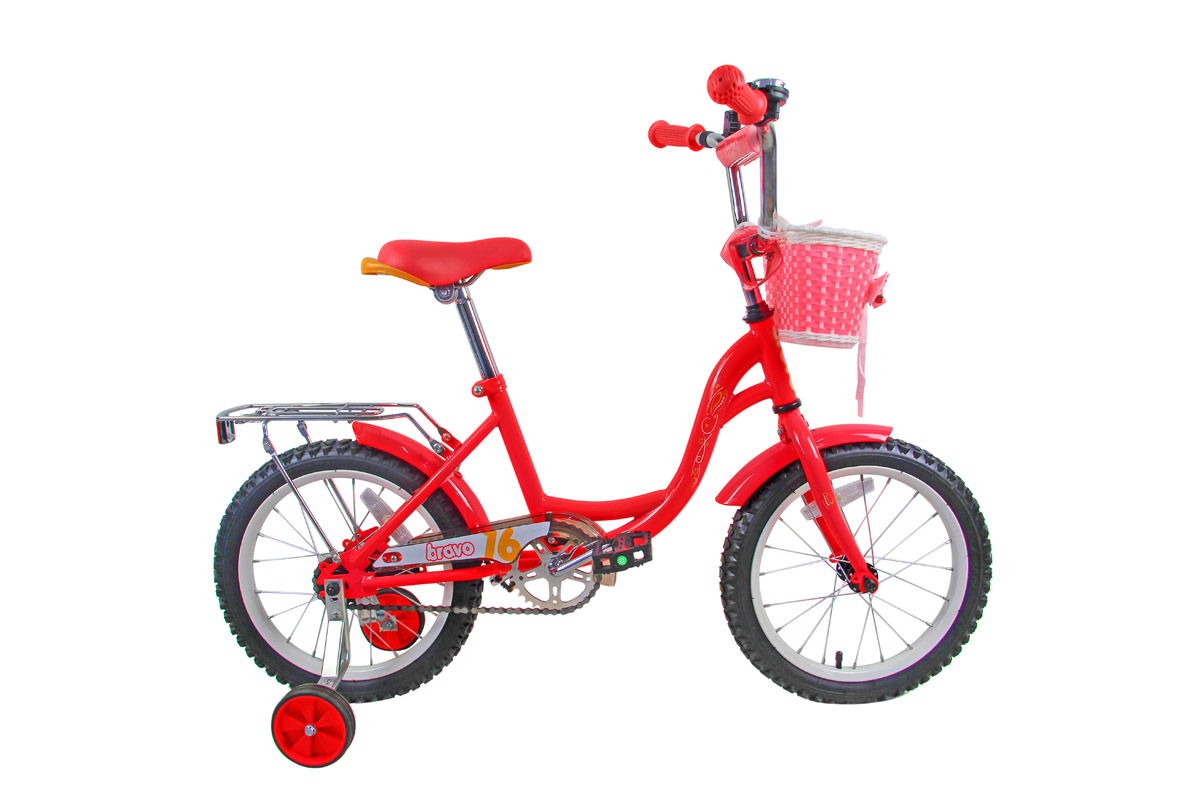 Велосипед Bravo 16 Girl (2018) розово-жёлто-белый one size