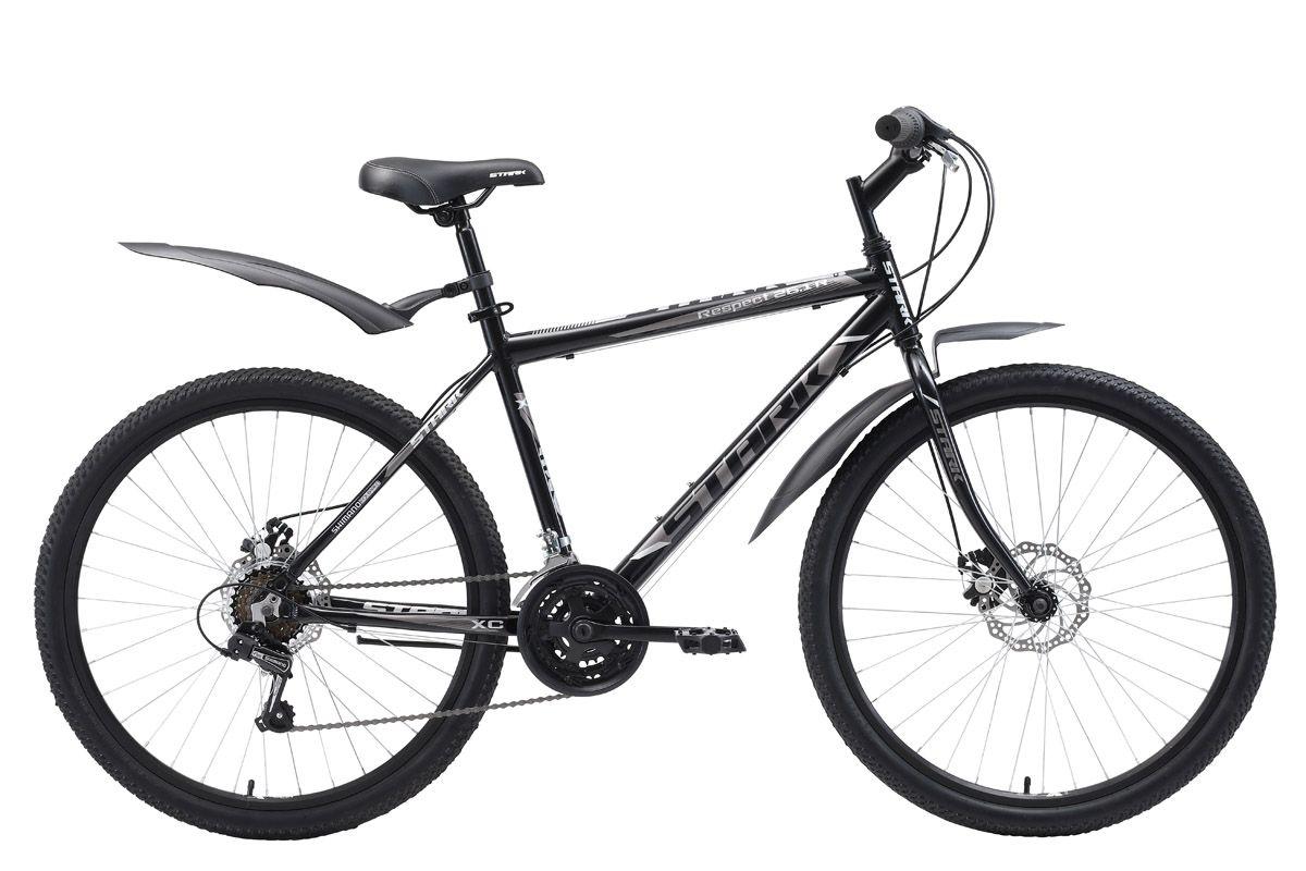 Велосипед Stark Respect 26.1 RD 2018 чёрный-тёмно-серый-серый 20 д