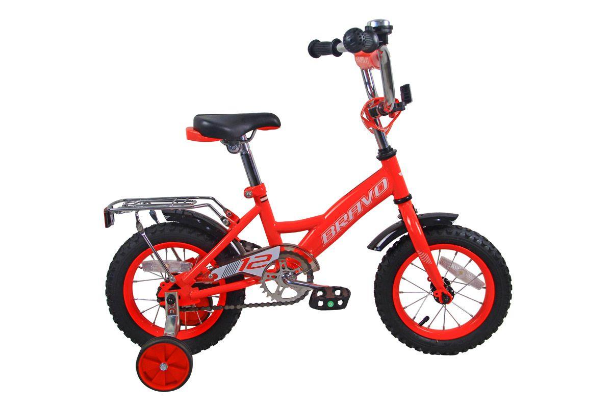 Велосипед Bravo 12 Boy 2018 красный-чёрный-белый one size