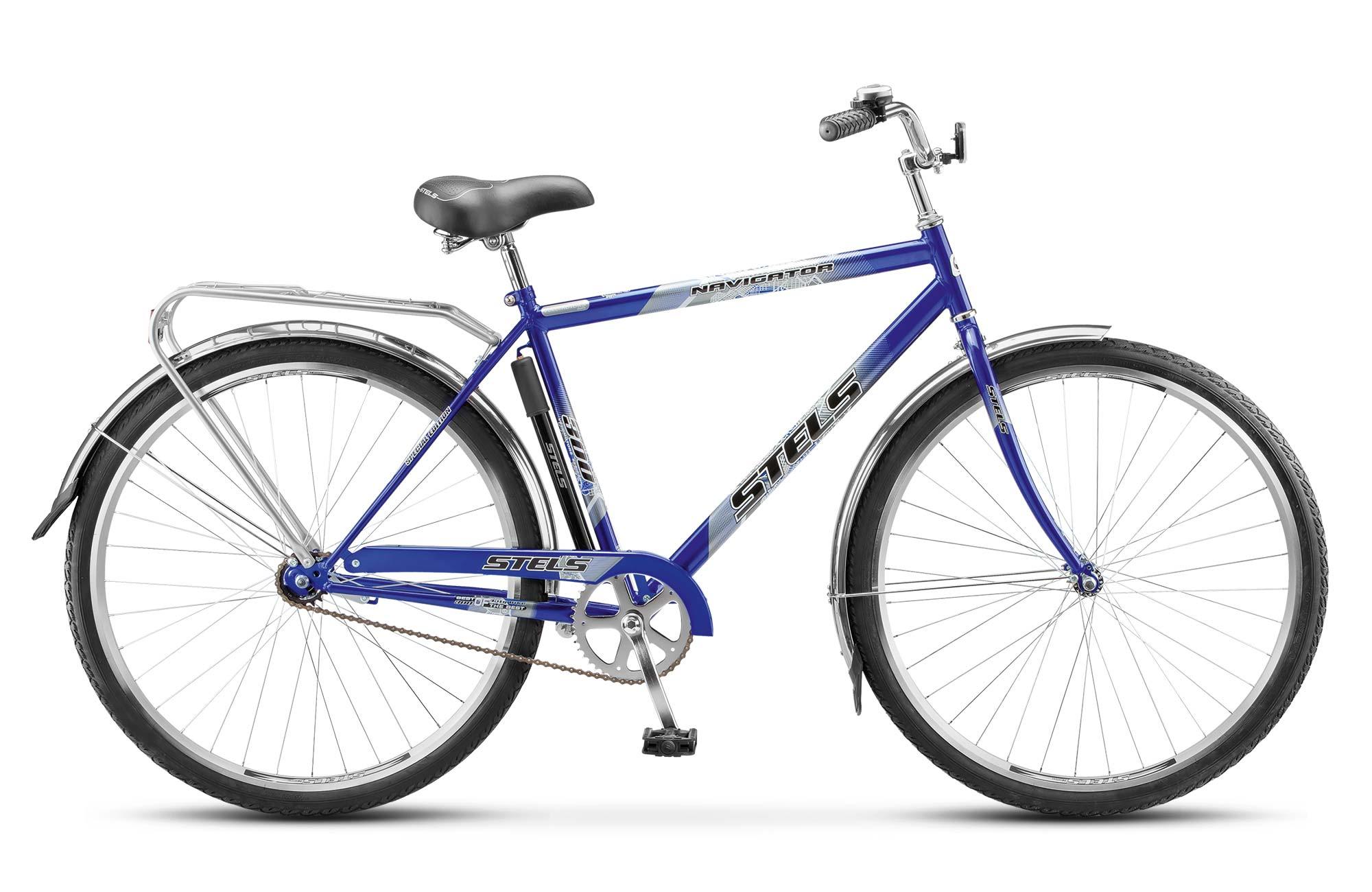 Велосипед Stels Navigator 300 Gent 28 (2016) синий 20КОМФОРТНАЯ ПОСАДКА<br><br><br>бренд: STELS<br>год: 2016<br>рама: Сталь (Hi-Ten)<br>вилка: Жесткая (сталь)<br>блокировка амортизатора: Нет<br>диаметр колес: 28<br>тормоза: Ножной ( Coaster brake)<br>уровень оборудования: Начальный<br>количество скоростей: 1<br>Цвет: синий<br>Размер: 20