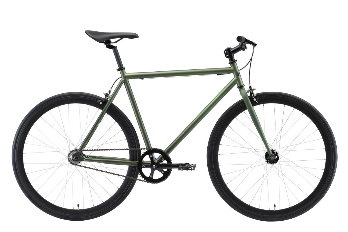 Велосипед Black One Urban 700 2019 зелёный-чёрный 21 д