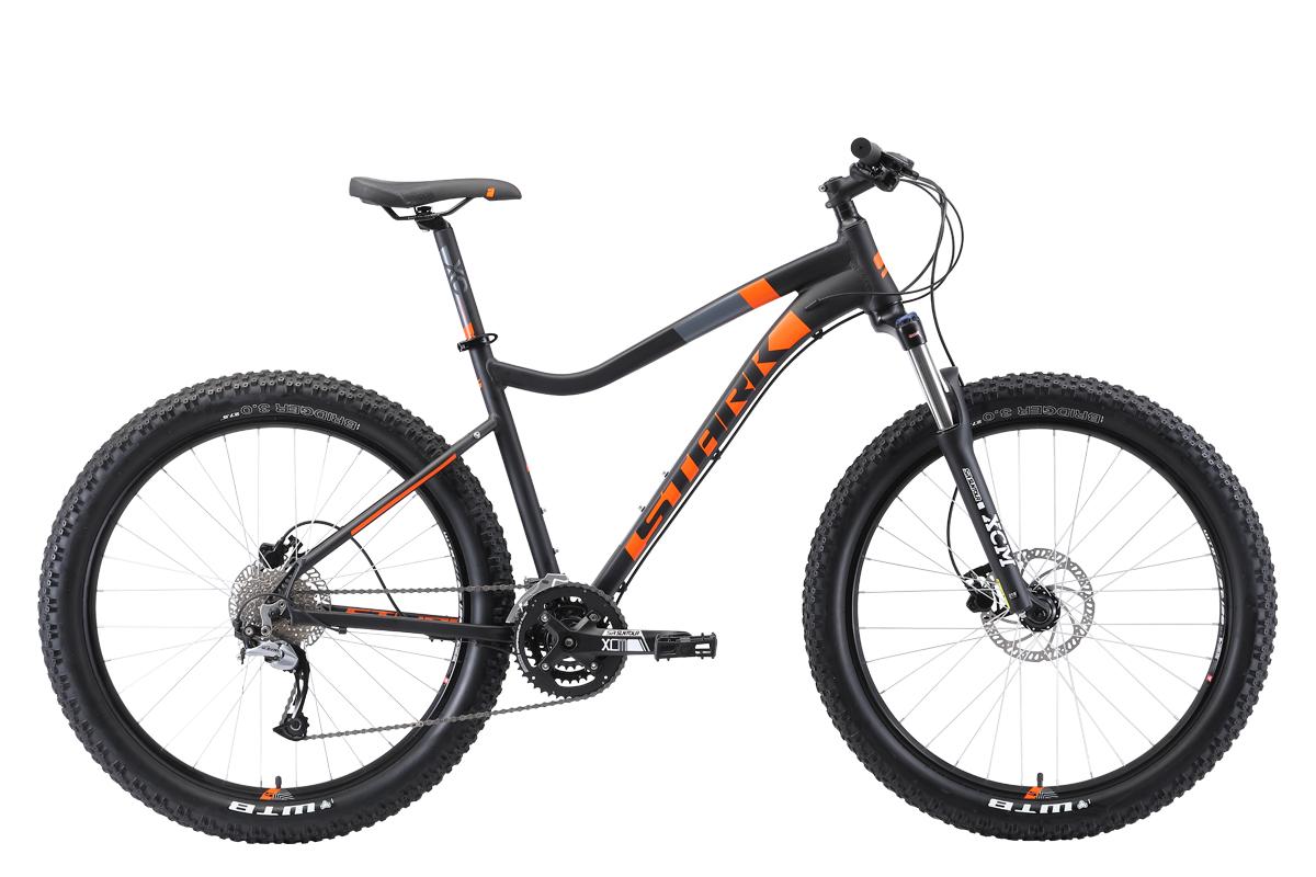 Велосипед Stark Tactic 27.5+ HD 2019 чёрный-оранжевый 17 д