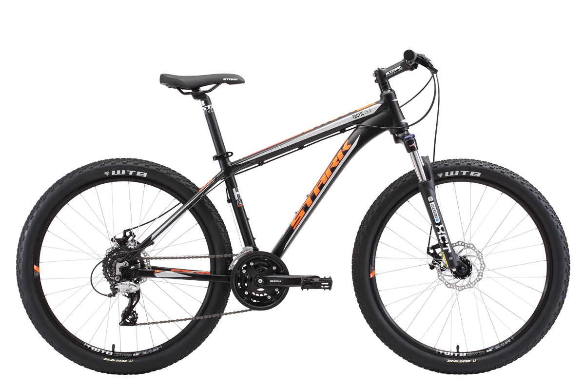 Велосипед Stark Tactic 26.4 D 2018 чёрный-оранжевый-серый 20 д