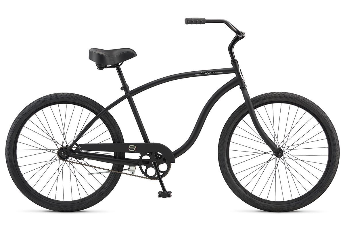 Велосипед Schwinn S1 (2017) серый one sizeКРУИЗЕРЫ / РЕТРО<br><br><br>бренд: SCHWINN<br>год: 2017<br>рама: Сталь (Hi-Ten)<br>вилка: Жесткая (сталь)<br>блокировка амортизатора: Нет<br>диаметр колес: 26<br>тормоза: Ножной ( Coaster brake)<br>уровень оборудования: Начальный<br>количество скоростей: 1<br>Цвет: серый<br>Размер: one size
