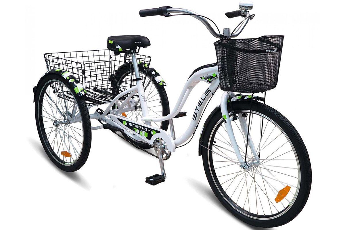 Велосипед Stels Energy-II (2016) бело-зеленый one sizeГРУЗОВЫЕ<br><br><br>бренд: STELS<br>год: 2016<br>рама: Алюминий (Alloy)<br>вилка: Жесткая (сталь)<br>блокировка амортизатора: Нет<br>диаметр колес: 26<br>тормоза: Ножной ( Coaster brake)<br>уровень оборудования: Начальный<br>количество скоростей: 3<br>Цвет: бело-зеленый<br>Размер: one size