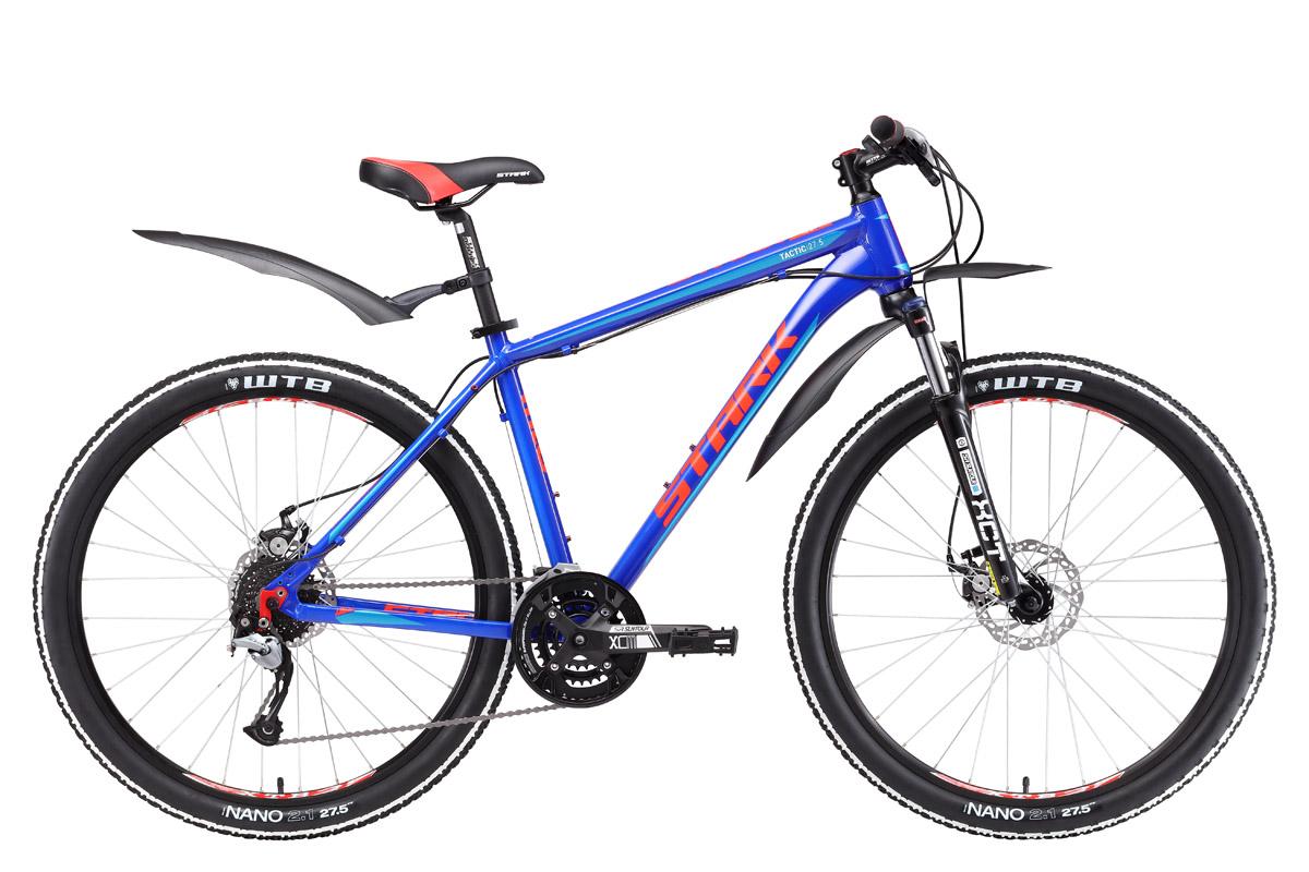 Велосипед Stark Tactic 27.5 D 2017 сине-красный 20 д