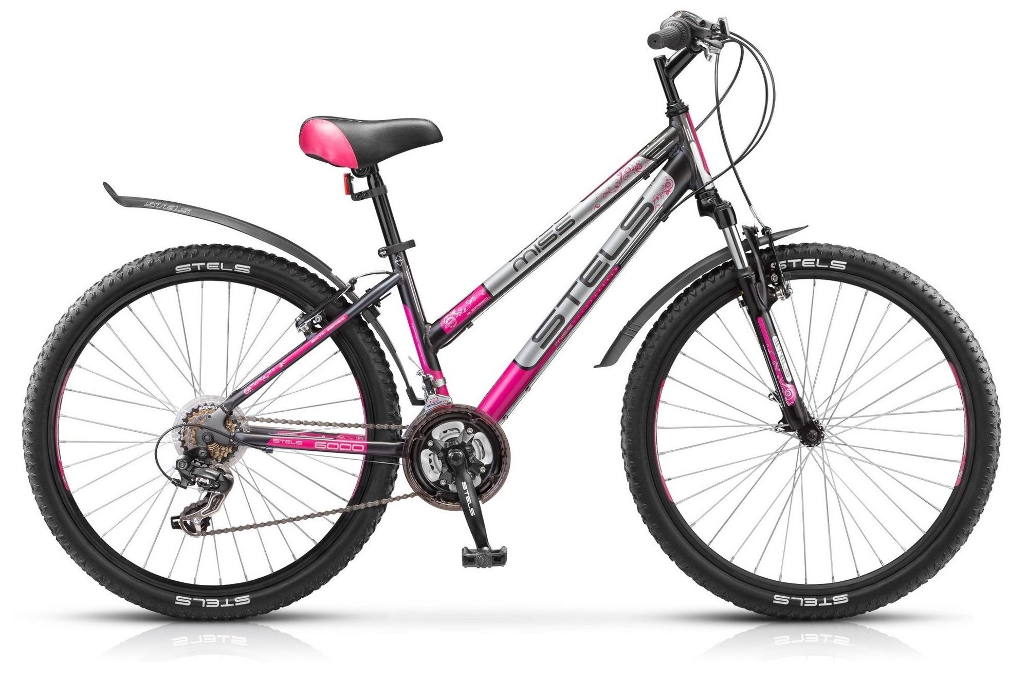 Велосипед Stels Miss 6000 V 26 (2016) бело-черно-красный 17