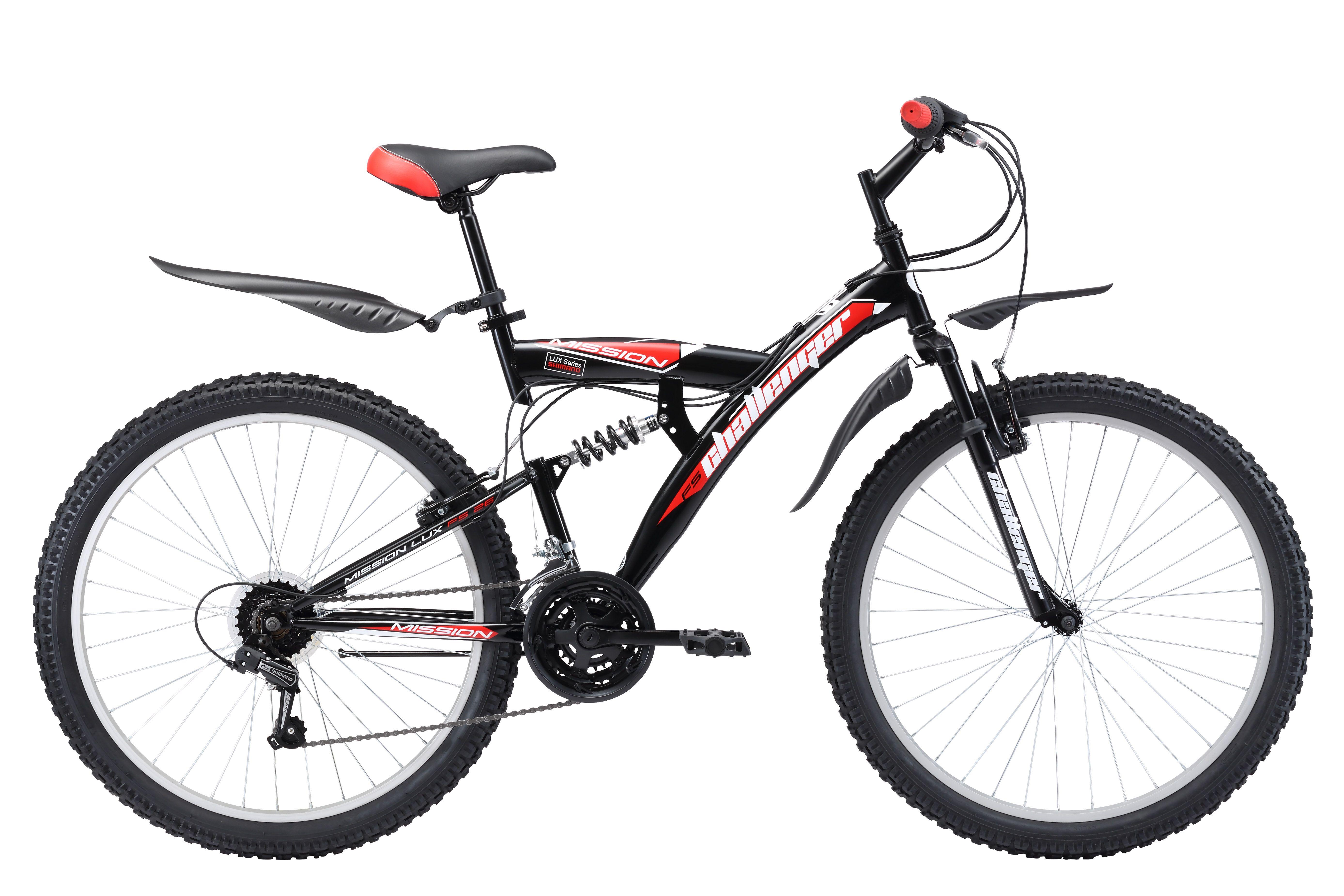 CHALLENGER Велосипед Challenger Mission Lux FS 26 (2017) черно-синий 20 цена 2016