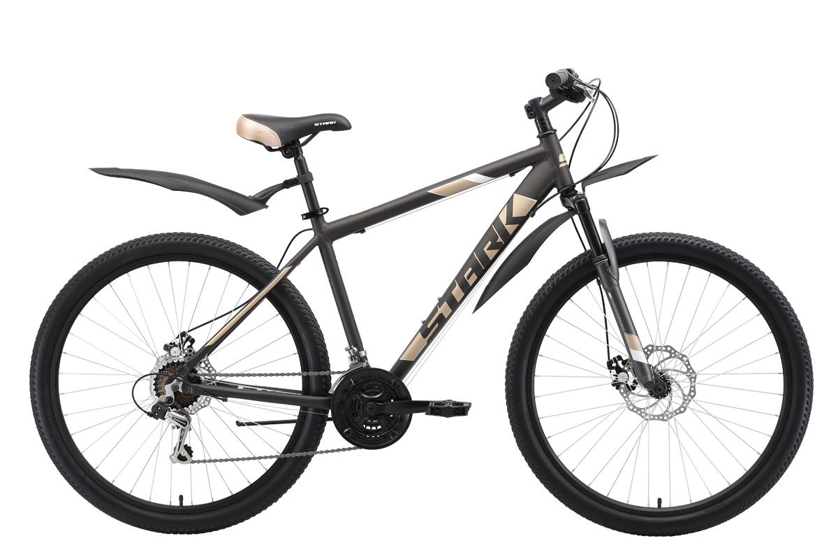 Велосипед Stark Tank 27.1 D 2019 коричневый-кремовый-белый 18 д