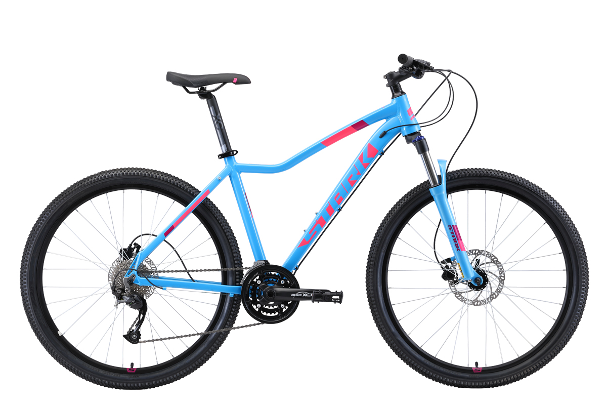 "Велосипед Stark Viva 27.4 HD (2019) голубой/белый/розовый 16"" STARK"