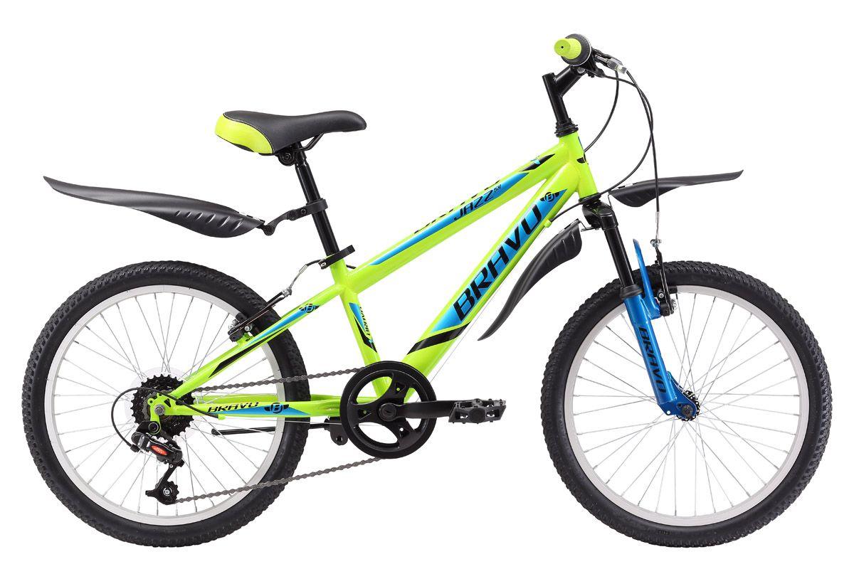 BRAVO Велосипед Bravo Jazz 20 (2017) зелено-голубой one size