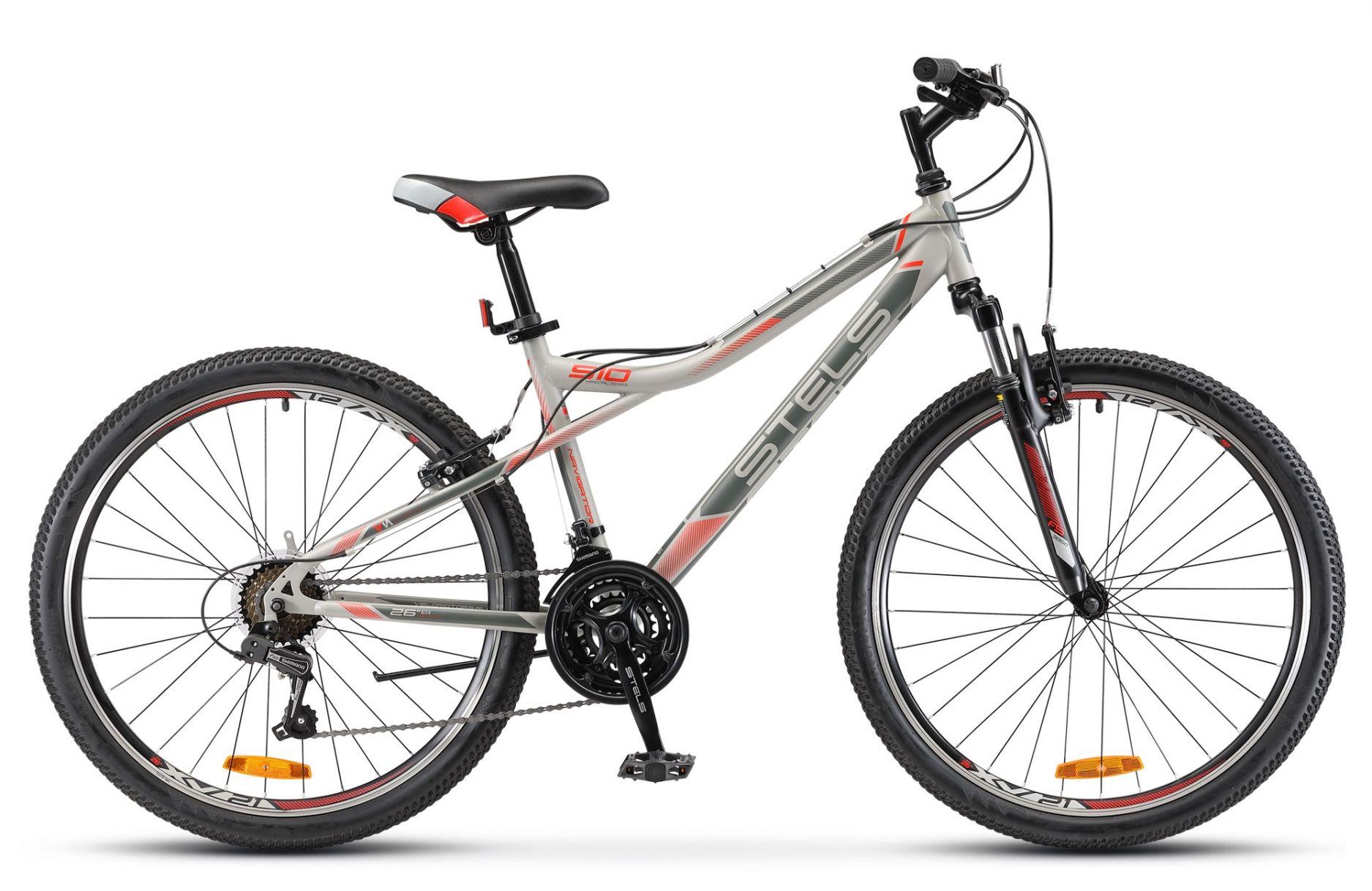 Велосипед Stels Navigator 510 V 26 2018 серо-красный 16 д