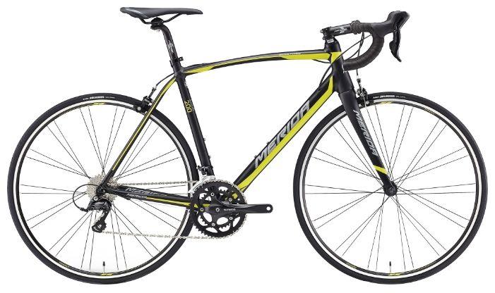 MERIDA Велосипед Merida Scultura 200 (2016) черно-желто-зеленый 18 велосумка подседельная merida 11 5 5 7 8 3 cm крепление на ремешке черно зеленый 2276003357