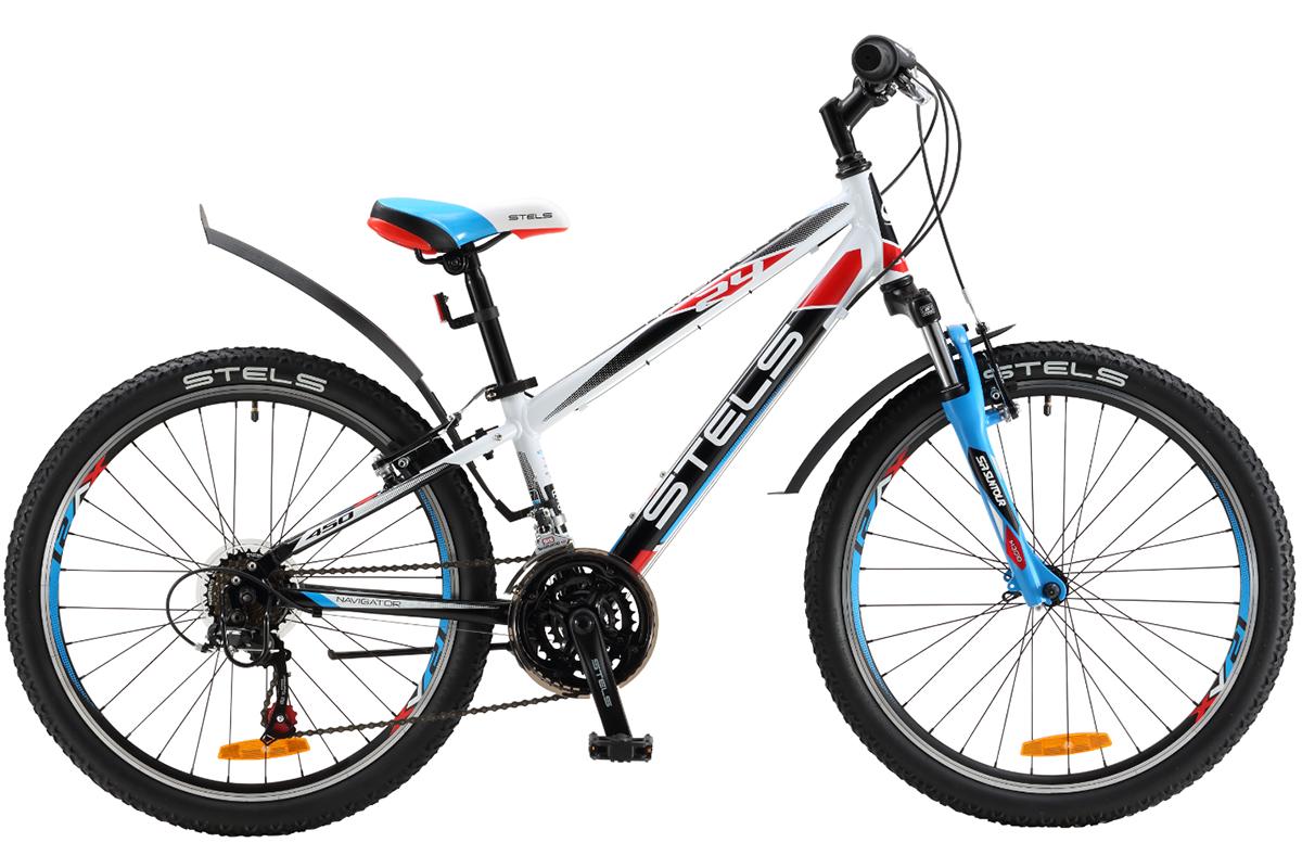 Велосипед Stels Navigator 450 V 24 (2017) бело-черный 12