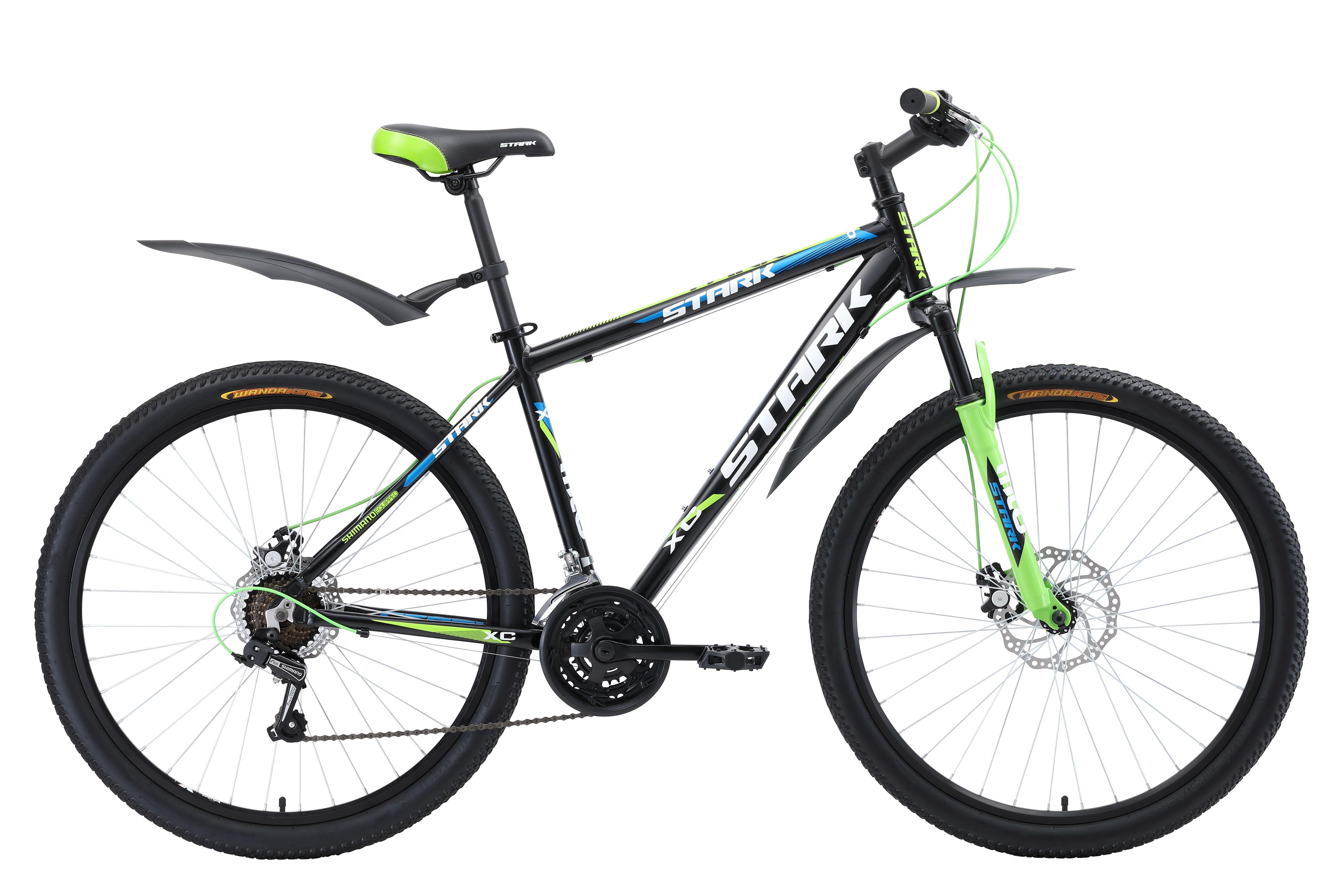 Велосипед Stark Tank 27.1 D 2018 чёрный-зелёный-белый 18 д