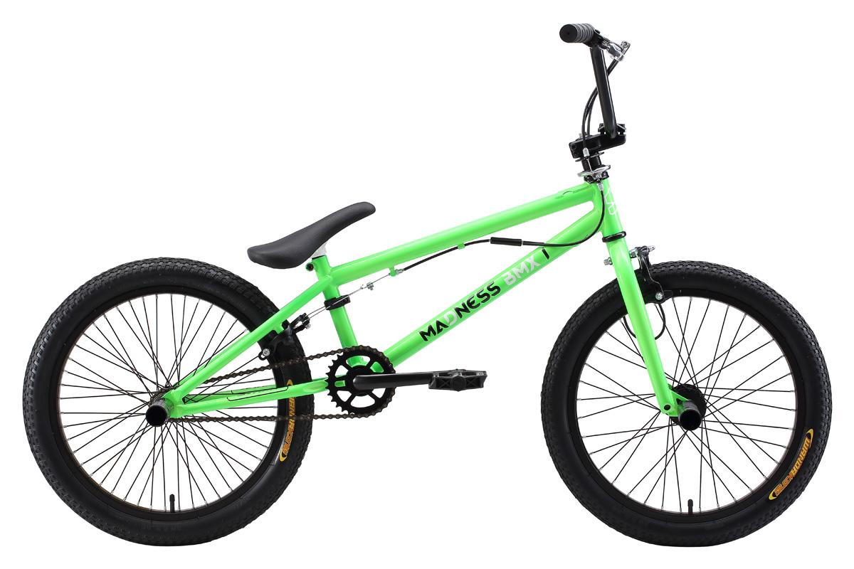 Велосипед Stark Madness BMX 1 (2017) черно-красный one sizeBMX<br>Stark Tanuki 12 Girl удобный детский велосипед, который идеально подойдёт для девочек 2 - 4 лет. Велосипед оснащён лёгкой и прочной алюминиевой рамой, которая обеспечивает оптимальную посадку ребёнка, и надёжным задним ножным тормозом. Так как велосипед оснащён съёмными задними колесами, процесс обучения пройдёт легче и быстрее. Для защиты от грязи в комплекте идут крылья. Цепь закрыта специальными накладками, что защищает от случайного попадания одежды в механизм. 12 дюймовые надувные колёса сгладят все неровности дороги.<br><br>бренд: STARK<br>год: 2017<br>рама: Сталь (Hi-Ten)<br>вилка: Жесткая (сталь)<br>блокировка амортизатора: Нет<br>диаметр колес: 20<br>тормоза: Клещевые (U-brake)<br>уровень оборудования: Начальный<br>количество скоростей: 1<br>Цвет: черно-красный<br>Размер: one size