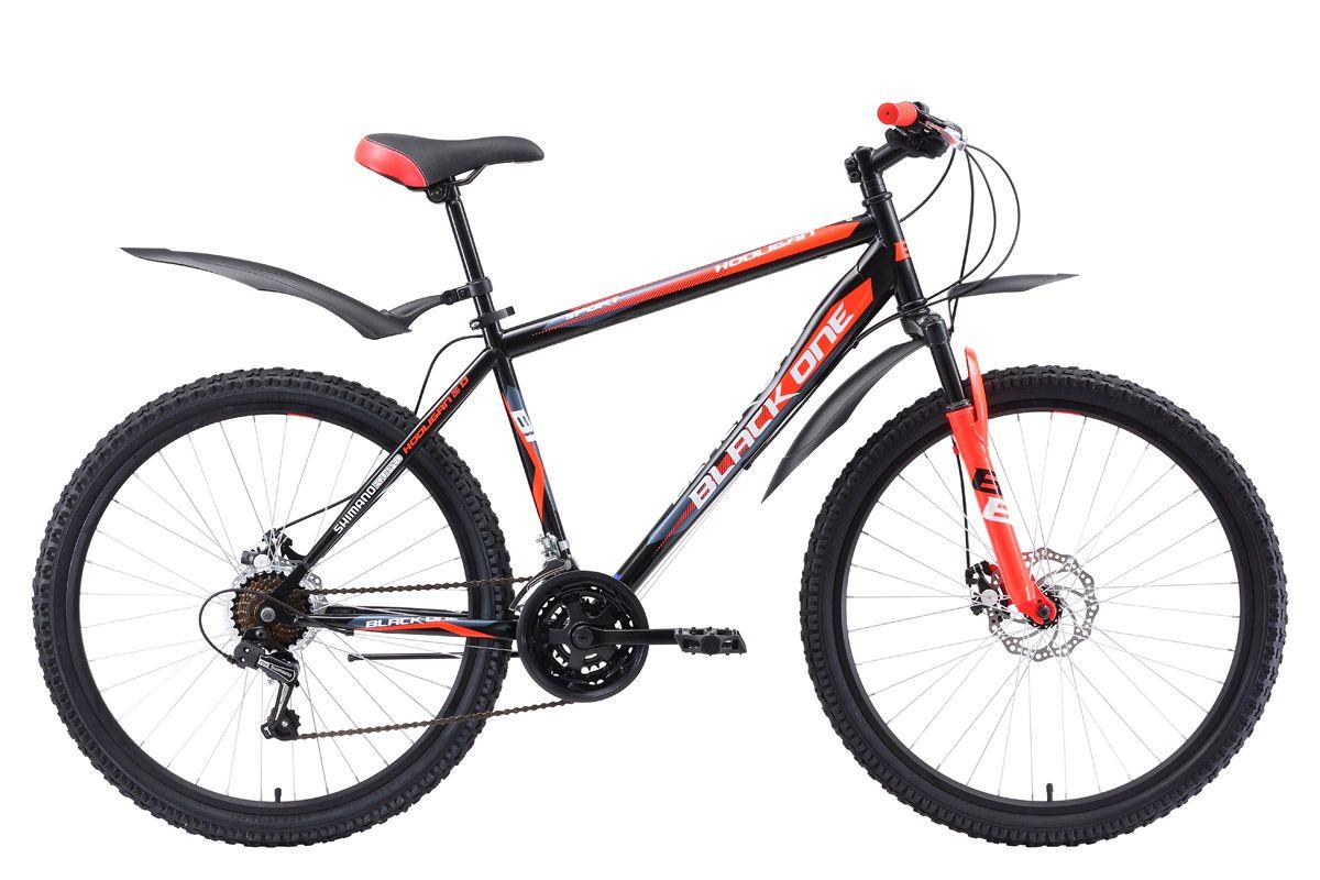 Велосипед Black One Hooligan 26 D 2018 чёрный-синий-белый 18 д